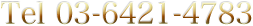 Tel 03-6421-4783